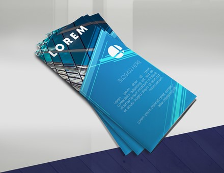 Blue Trifold Brochure IMPBROC003